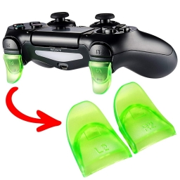 EXTENCION BOTONES L2 Y R2 JOYSTICK PLAYSTATION 4 VERDE