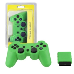 JOYSTICK INALAMBRICO PLAYSTATION 2 COMPATIBLE VERDE