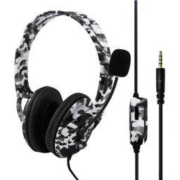 AURICULARES GAMER CON MICROFONO PLAYSTATION 4 PC NINTENDO SWITCH CELULAR CAMUFLADOS BYN