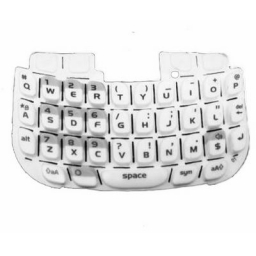 TECLADO BLACKBERRY 8520 BLANCO