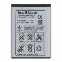 BATERÍA SONY ERICSSON BST-36 W200 W800 K800 K300 W600 K310