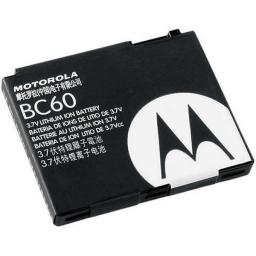BATERÍA MOTOROLA BC60 C261 KRZR K1 L2 L6 L7 L8 V1150 V3X V8 SLVR Z10