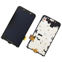 PANTALLA LCD DISPLAY CON TOUCH BLACKBERRY Z30 NEGRA CON MARCO