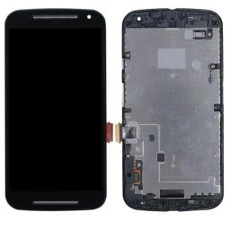 PANTALLA LCD DISPLAY CON TOUCH MOTOROLA XT1063 XT1068 XT1069 MOTO G2 NEGRA CON MARCO