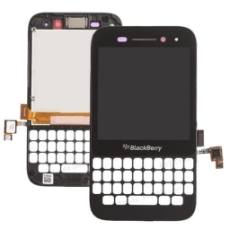 PANTALLA LCD DISPLAY CON TOUCH BLACKBERRY Q5 CON MARCO NEGRA