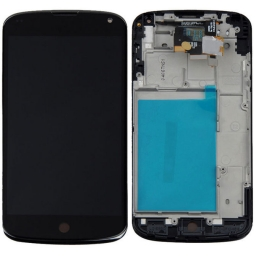 PANTALLA LCD DISPLAY CON TOUCH LG E960 NEXUS 4 CON MARCO