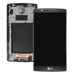 PANTALLA LCD DISPLAY CON TOUCH LG G4  CON MARCO NEGRA