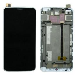 PANTALLA LCD DISPLAY CON TOUCH ALCATEL OT 8020 CON MARCO BLANCO
