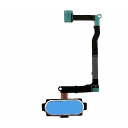 FLEX SENSOR HUELLA DACTILAR SAMSUNG N9200 N920 GALAXY NOTE 5 AZUL CLARO