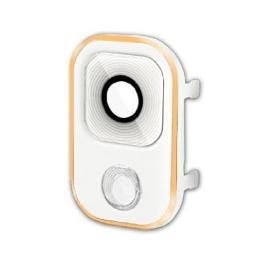 PROTECTOR CAMARA SAMSUNG N9005 GALAXY NOTE 3 BLANCO / DORADO