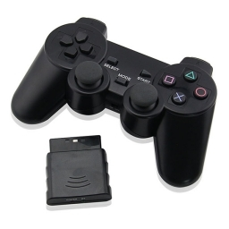 JOYSTICK INALAMBRICO PLAYSTATION 2 COMPATIBLE NEGRO