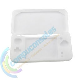FUNDA PROTECTOR SILICONA NINTENDO NEW 2DS XL BLANCO