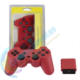 JOYSTICK INALAMBRICO PLAYSTATION 2 COMPATIBLE ROJO