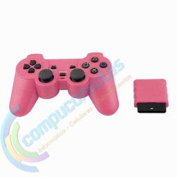 JOYSTICK INALAMBRICO PLAYSTATION 2 COMPATIBLE ROSA