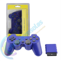 JOYSTICK INALAMBRICO PLAYSTATION 2 COMPATIBLE AZUL