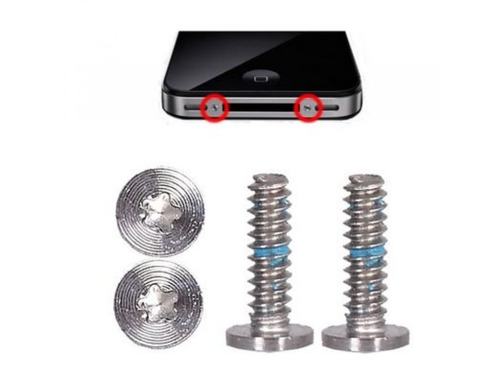 SET 2 TORNILLOS TORX INFERIORES IPHONE 4G / 4S