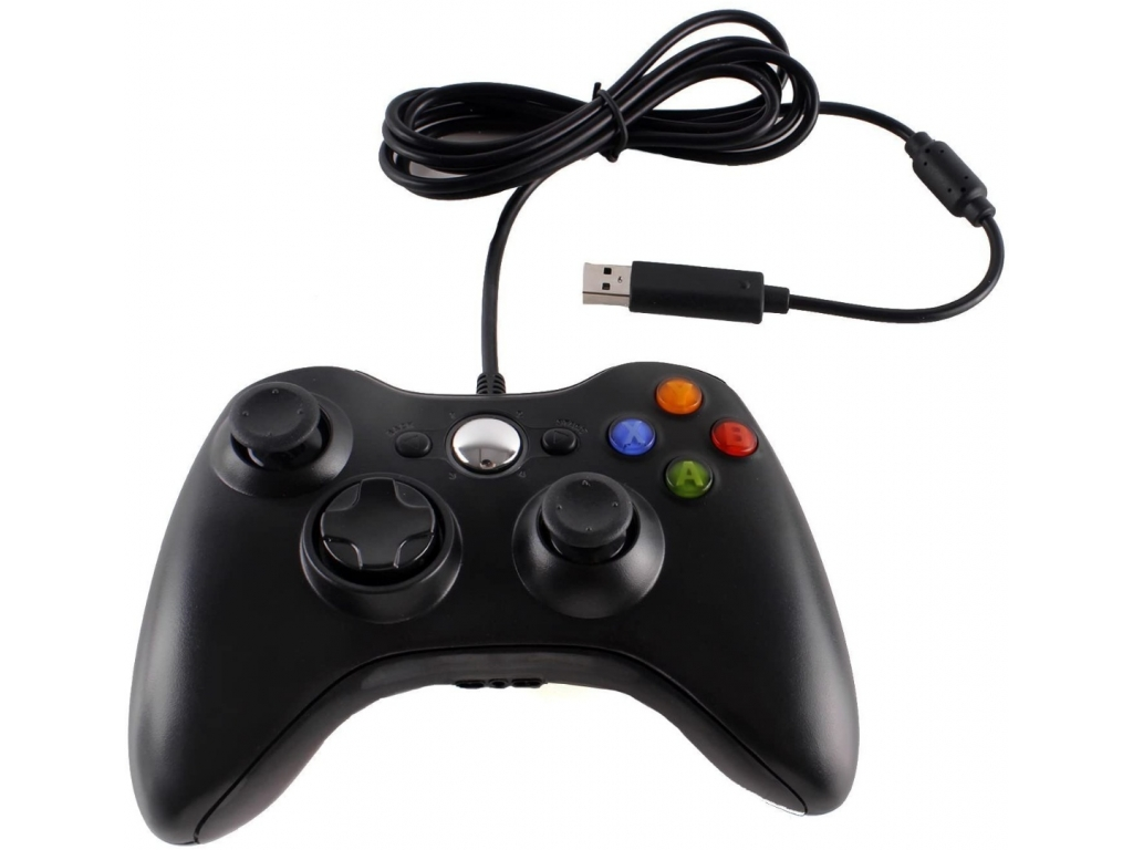 JOYSTICK CABLEADO PC NOTEBOOK Y PS3 FORCE NEGRO