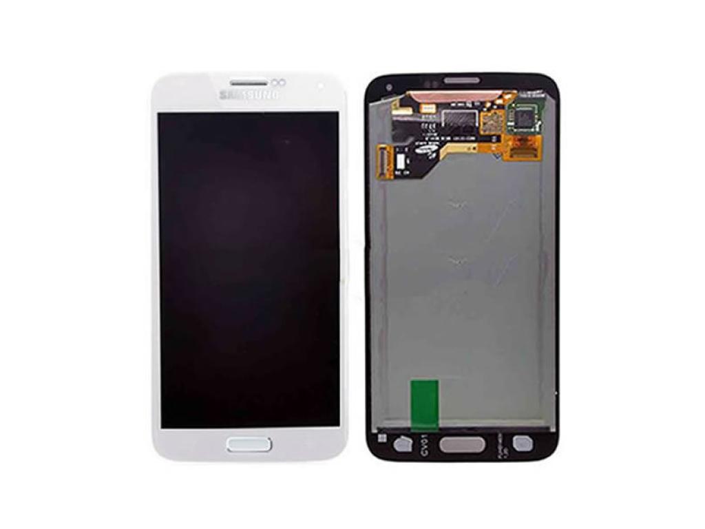 PANTALLA LCD DISPLAY CON TOUCH SAMSUNG GALAXY S5 I9600 G900 BLANCA