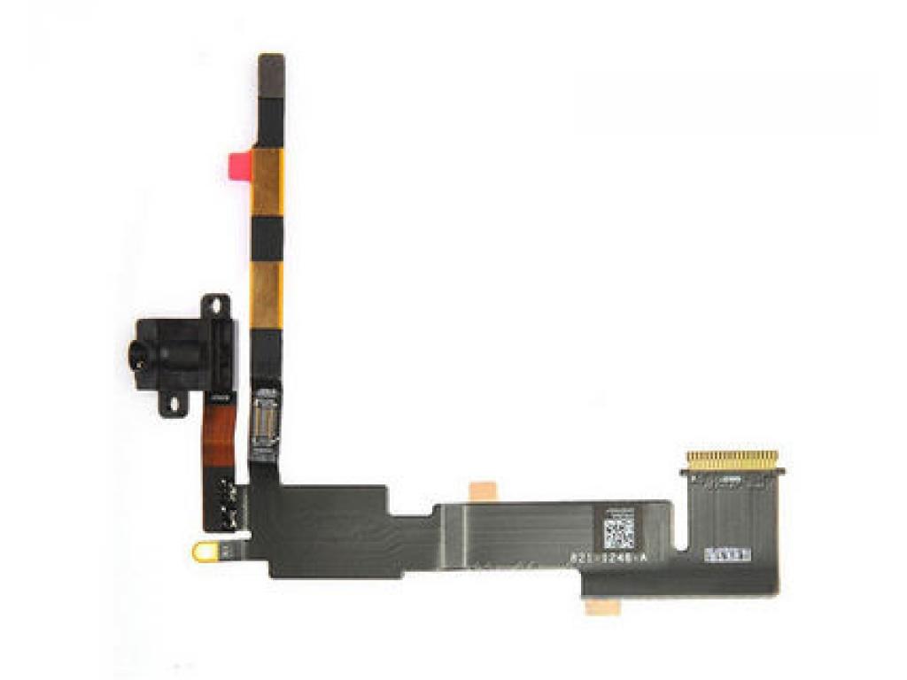 FLEX IPAD 2 WIFI CONECTOR AURICULARES INTERNO Y CABLE DATOS NEGRO