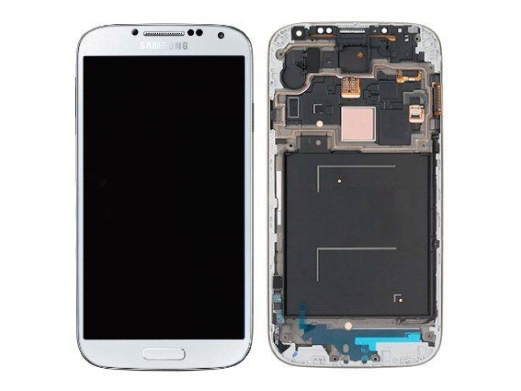 PANTALLA LCD DISPLAY CON TOUCH SAMSUNG i9500 i9505 i337 GALAXY S4 CON MARCO BLANCA
