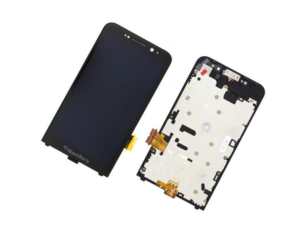 PANTALLA LCD DISPLAY CON TOUCH BLACKBERRY Z30 NEGRA CON MARCO