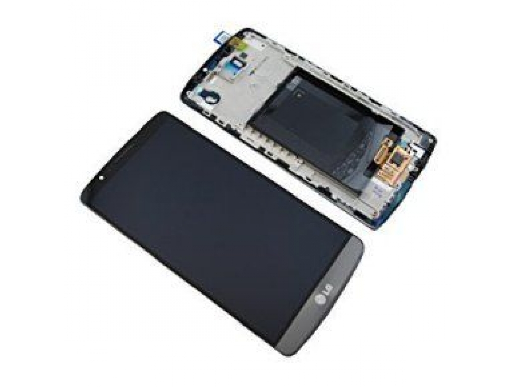 PANTALLA LCD DISPLAY CON TOUCH LG D855 OPTIMUS G3 NEGRO / GRIS CON MARCO