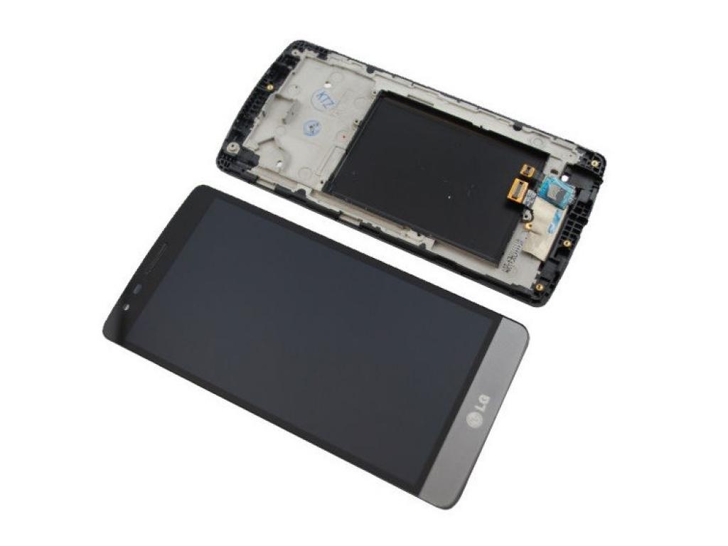 PANTALLA LCD DISPLAY CON TOUCH LG D722 OPTIMUS G3 MINI NEGRO / GRIS CON MARCO
