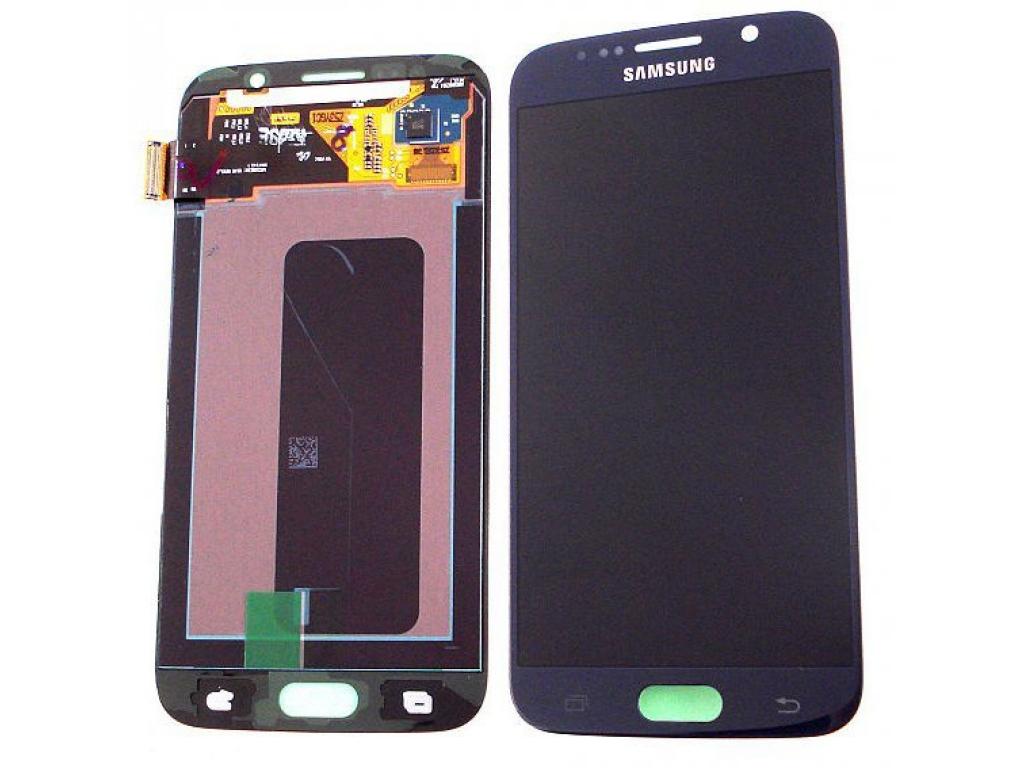 PANTALLA LCD DISPLAY CON TOUCH SAMSUNG G9200 G920f G920i G920a GALAXY S6 AZUL / NEGRO