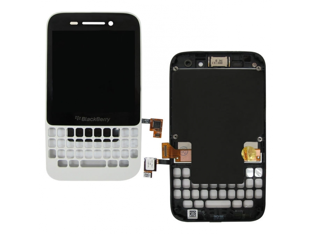 PANTALLA LCD DISPLAY CON TOUCH BLACKBERRY Q5 CON MARCO BLANCA