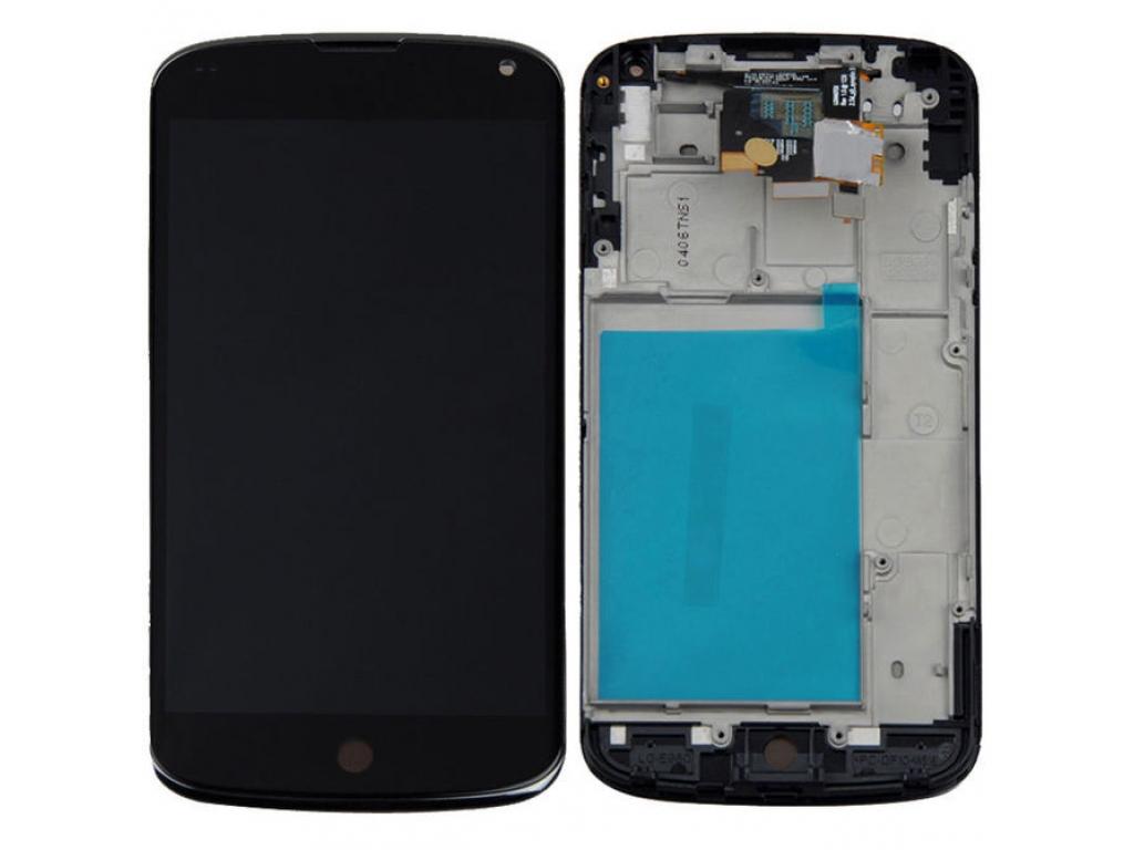 PANTALLA LCD DISPLAY CON TOUCH LG E960 NEXUS 4 CON MARCO