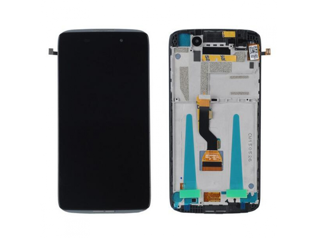 PANTALLA LCD DISPLAY CON TOUCH ALCATEL OT6039 IDOL 3 CON MARCO