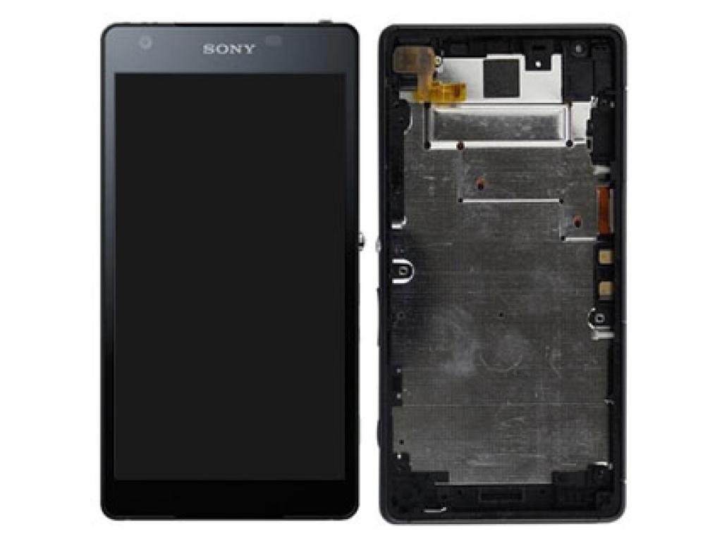 PANTALLA LCD DISPLAY CON TOUCH SONY ERICSSON D6563 XPERIA Z2A NEGRA CON MARCO