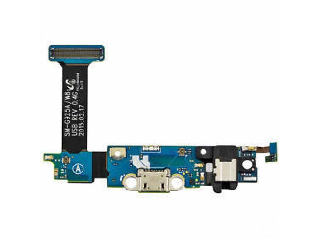 FLEX SAMSUNG G925i GALAXY S6 EDGE CONECTOR CARGA MICROFONO BOTON HOME JACK 3.5