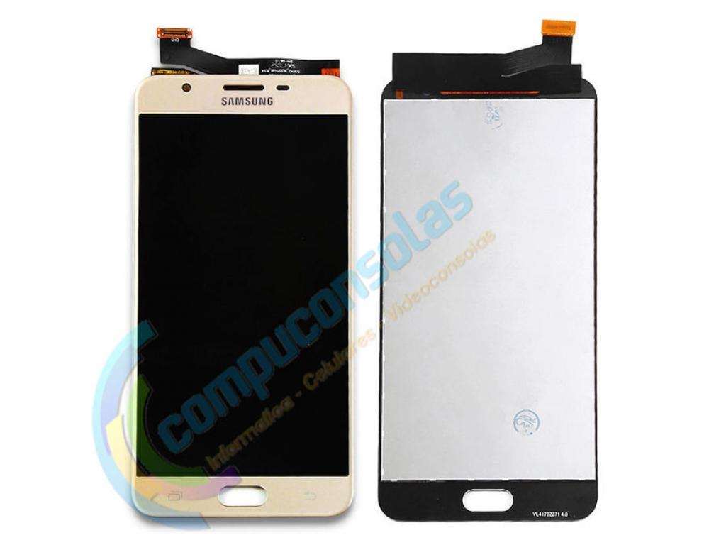 PANTALLA LCD DISPLAY CON TOUCH SAMSUNG GALAXY J7 PRIME G610 DORADO