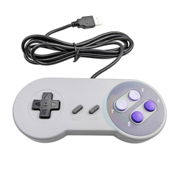 JOYSTICK USB RETRO DISEÑO SUPER NES 16 BIT PARA PC Y NOTEBOOK