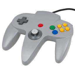 JOYSTICK CONTROL GAMEPAD NINTENDO 64 N64 COMPATIBLE GRIS