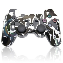 JOYSTICK INALAMBRICO PLAYSTATION 3 COMPATIBLE CAMUFLADO NEGRO BLANCO