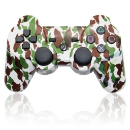 JOYSTICK INALAMBRICO PLAYSTATION 3 COMPATIBLE CAMUFLADO VERDE