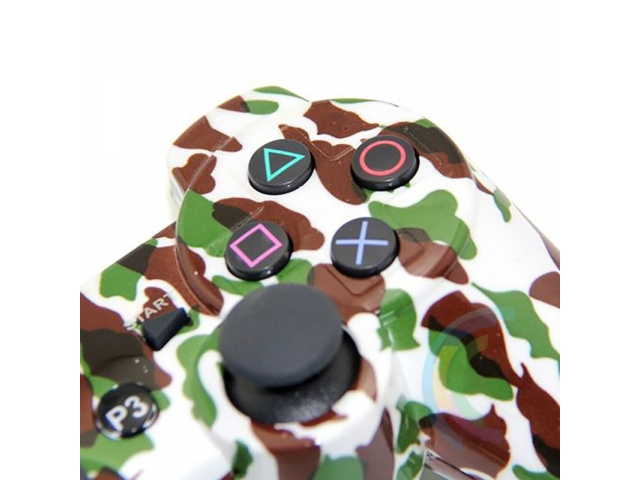 MANDO CONTROL BLUETOOTH INALAMBRICO PARA PLAYSTATION 3 COMPATIBLE CAMUFLADO VERDE Y MARRON