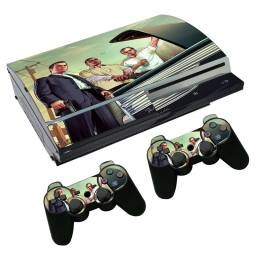 VINILO SKIN ADHESIVO PEGOTIN PERSONALIZAR PLAYSTATION 3 FAT GTA 5