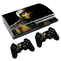 VINILO SKIN ADHESIVO PEGOTIN PERSONALIZAR PLAYSTATION 3 FAT MK SCORPION