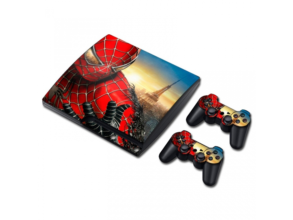 VINILO SKIN ADHESIVO PEGOTIN PERSONALIZAR PLAYSTATION 3 SLIM SPIDERMAN