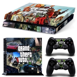 VINILO SKIN ADHESIVO PEGOTIN PERSONALIZAR PLAYSTATION 4 FAT GTA 5 M2