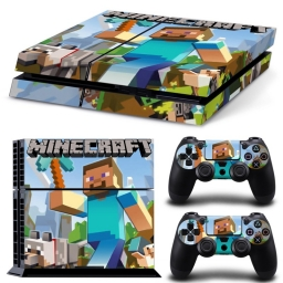 VINILO SKIN ADHESIVO PEGOTIN PERSONALIZAR PLAYSTATION 4 FAT MINE